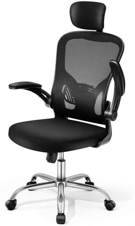Magic Life Ergonomic Adjustable Mesh Office Chair, Black - W1-N (PICKUP-ONLY)
