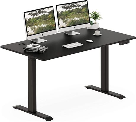"NEW, SHW 55"" Electric Height-Adjustable Computer Desk, Black - AZ2 W3-N"