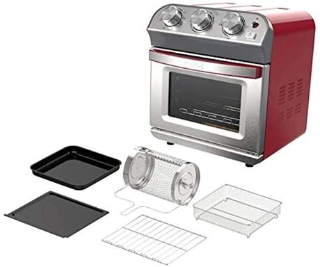 DASH Compact 10L Air Fryer Oven in Red - W7-N (PICKUP-ONLY)