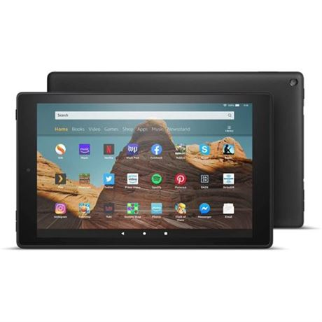 NEW, Amazon Fire HD 10 inch 9th Generation Tablet in Black, 64 GB - 00-N